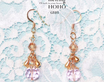 Gold Crystal Earrings SE02-GE03