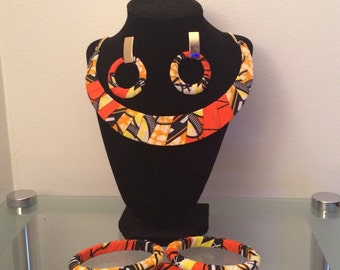 Ankara necklace set