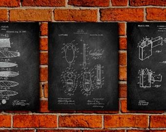 Cigar Set Art Print,Patent Print Poster,Patent Print Art,Home Decor,Patent Wall Art,Vintage Art,Vintage Patent Set [PPES0022-P]
