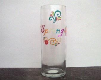 Spring vase, Flower vase, Floral vase, Centerpiece, Decorative vase, Cylinder vase, Table decor, Table decoration, Home decoration