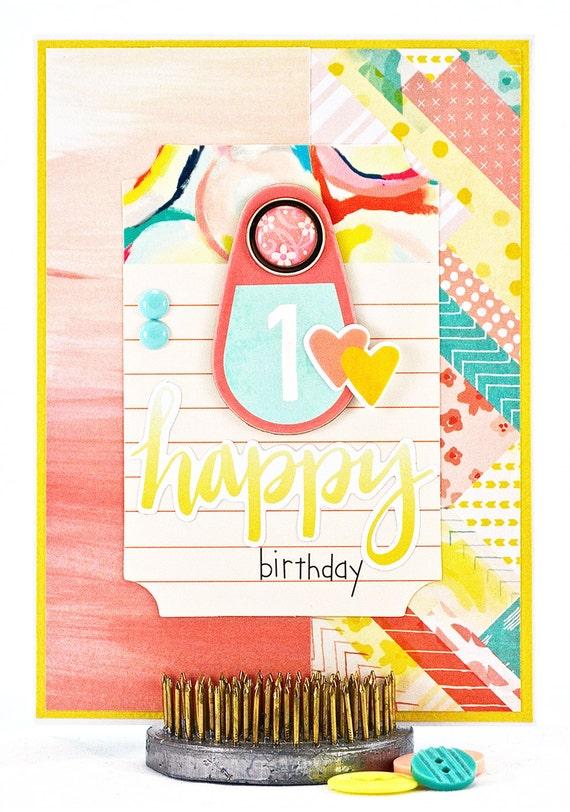 1st Birthday Card First Birthday Card Happy First Birthday – 1st Birthday Cards