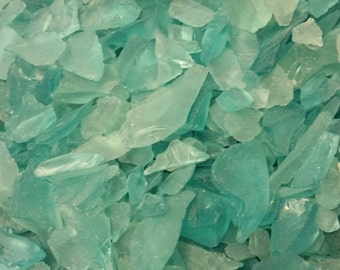 Teal Color Small Sea Glass (1 Pound Bag) (EA)