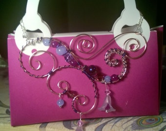Purple Pink Princess Necklace