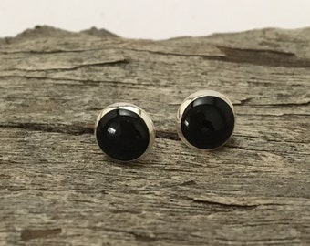 Resin stud earrings, resin earrings, resin jewellery, resin jewelry, fashion, women, earrings, stud earrings, black earrings