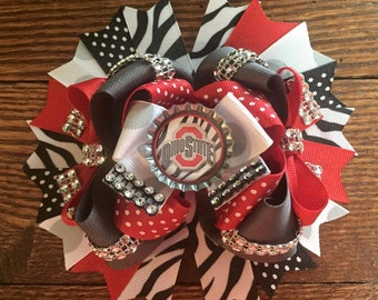 Ohio State Buckeyes Over The Top Hair Bow