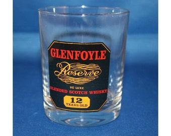 Vintage RARE Glenfoyle Reserve Scotch Whiskey Glass