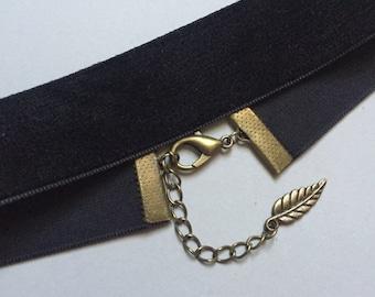 Black Velvet Ribbon Choker - Black Velvet Choker - Thick Black Choker - Grunge Choker - 90's Choker - Victorian Accessories