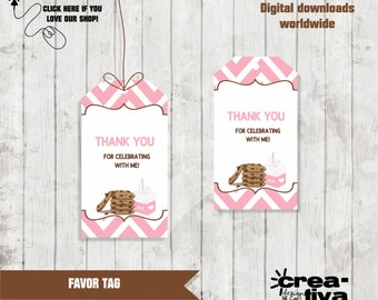Cookies and Milk Favor Tags, Cookies and Milk Gift Tags, Cookies and Milk Birthday INSTANT DOWNLOAD