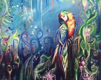 Tropical Rainforest Parrot