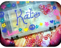 Children's Personalized Storage - HAND PAINTED DESIGNS plus Name - Pokemon, Crafts, Rainbow Loom , & More!