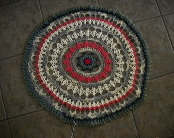 Beautiful Hand Crocheted Large Doily New HI-306