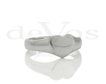 Heart Ring - Signet Ring