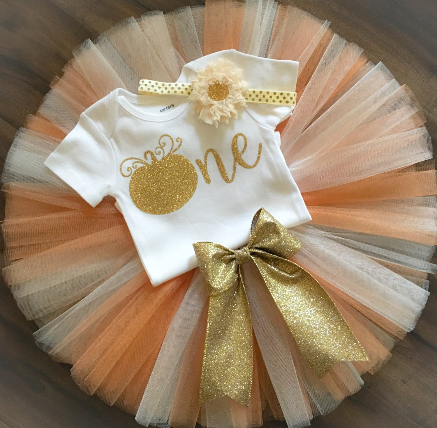 First Birthday Outfit // Pumpkin First Birthday // Fall