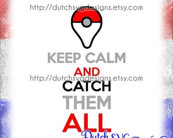 Pokemon Go Keep Calm cutting file, in Jpg Png SVG EPS DXF, for Cricut & Silhouette, pokemon go svg, pokemon svg, pikachu svg, cricut svg