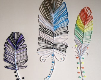 Quilled Feathers