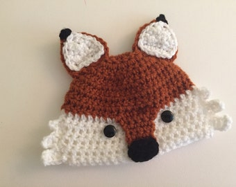 All Sizes - Crocheted Fox Hat Toque