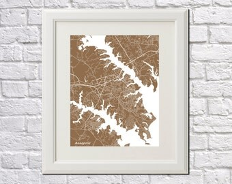 Annapolis Street Map Print Map of Annapolis City Street Map Maryland Poster Wall Art 7079P