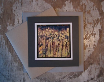 Autumn Pods, handmade, greeting card, blank, square, photo