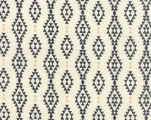 1/2 Yard - Moda Urban Chiks Floral Geometric Natural, Nomad Aztec Bone Onyx, Manufacturer SKU# 31103 11, Fabric, Southwest
