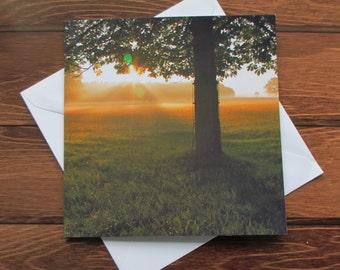 Sunrise Greetings card 14cm square