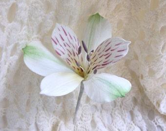 Alstromeria Sugar Flower Gumpaste Lily Wedding Cake Topper