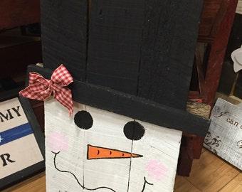 Snowman / Scarecrow Pallet Door Hanger