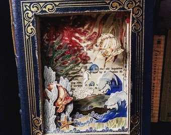 Water Babies Book Sculpture_Altered Book_Book Art_Classic Children's Books