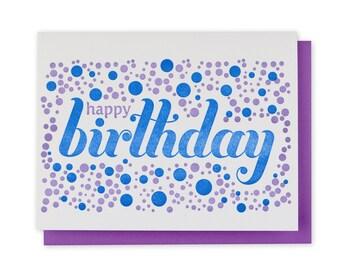 Birthday Letterpress Card // Dots