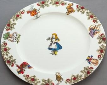 Alice in Wonderland Dinner Plate