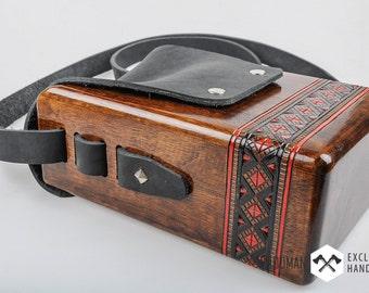 Wooden Buckle Handbag -Messenger bag - Men's bag - Wooden bag -  Shoulder Bag - Unique shoulder bag - Trend 2016 - Wooden accessory [WD-209]