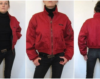 BOMBER JACKET - Accomplice - bordeaux red - size S
