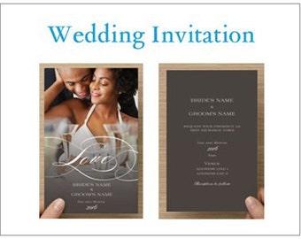 Wedding invitations. Custom invitations. Free envelopes.