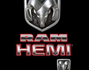 vintage dodge ram hemi licensed emblem adult unisex t shirt 20459hd2 - Dodge Ram Logo