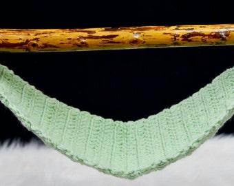 Crochet baby hammock newborn to 18 months photography prop.