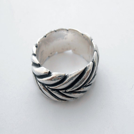 silver thumb ring uonesax silver ring with handmade