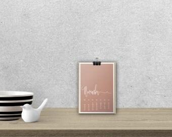 Desk Calendar 'MELIKA', planar // A5