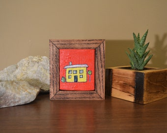 Small Acrylic Painting with Handmade Frame