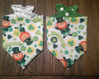 Lucky Leprechauns Bibdana Waterproof/Reversible for Infants and Toddlers