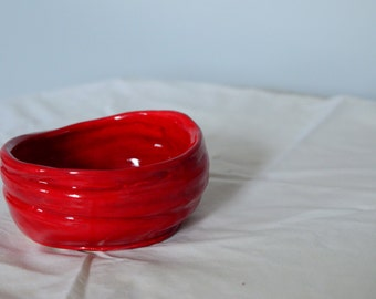 Red Layered Bowl