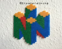 N64 logo made from hama / perler beads