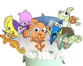 Finding Nemo Centerpiece | Nemo - Dory theme birthday party or baby shower decor!