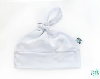 30% - baby knot hat - beanie for baby, shower gift - White