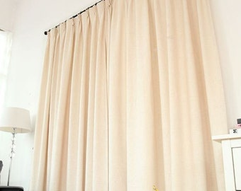 Cream Curtains, Cream Curtain Panels, window curtain panels, linen curtains, custom curtains, custom drapes