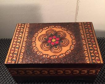Beautiful Decorated Wood Box