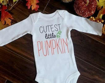 Cutest Little Pumpkin Fall Baby Boy/Girl Bodysuit