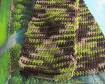 Hand crochet wool scarf SCAR 012