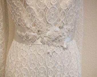 Items similar to beautiful peacock wedding dress sash on etsy for Peacock wedding dress sash