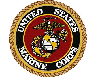 Marines Embroidery Design