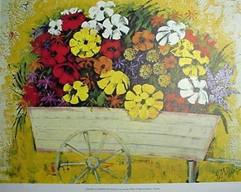 Print, Flowers For Sale by Savage, Artwork Reproduction, Floral & Gardens