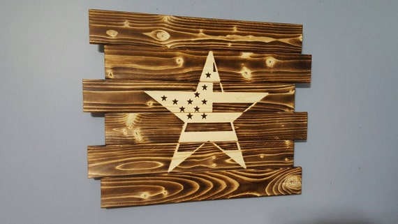 Stars and stripes american flag decor rustic patriotic wall Stars and stripes home decor